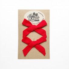 """Бантики для девочки """"Красный горошек"""""""