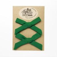 """Бантики для девочки """"Лесные зеленые"""""""