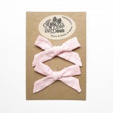 """Бантики для девочки """"Розовые в горошек"""""""