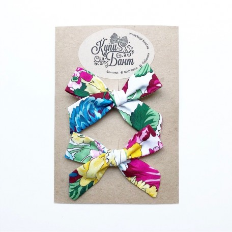 """Бантики для девочки """"Яркие цветы"""""""