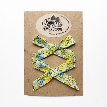 """Бантики для девочки """"Желтые лютики"""""""