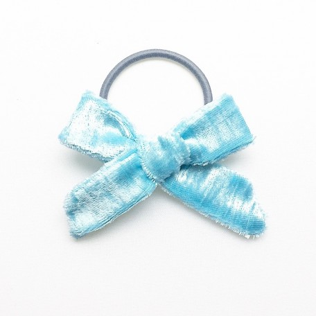"Бантик для девочки ""Голубой бархат"""