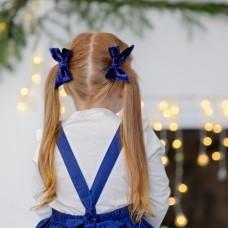 "Бантик для девочки ""Синий бархат"""