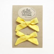 """Бантики для девочки """"Лимонные"""""""