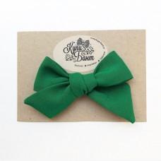 """Бант для девочки """"Лесной зеленый"""""""