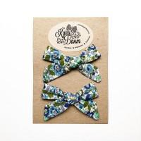"Бантики для девочки ""Синие цветочки"""