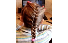 Французская коса в детский сад