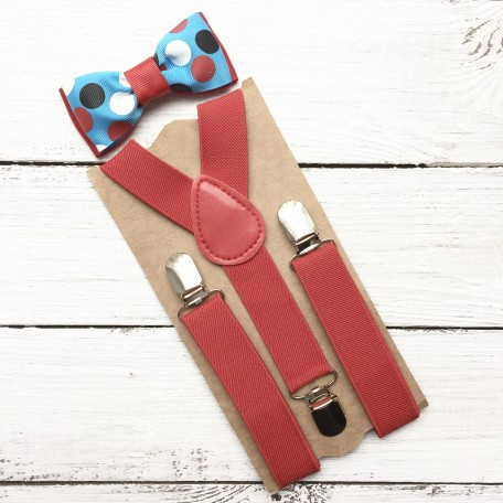 "Комплект галстук-бабочка ""Праздничный фейерверк"""