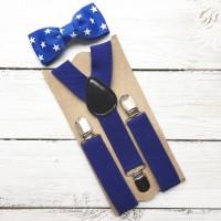 """Комплект галстук-бабочка """"Звездное небо"""""""